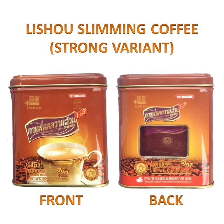 Lishou Slimming Coffee Strong Variant 15 Sachets Can