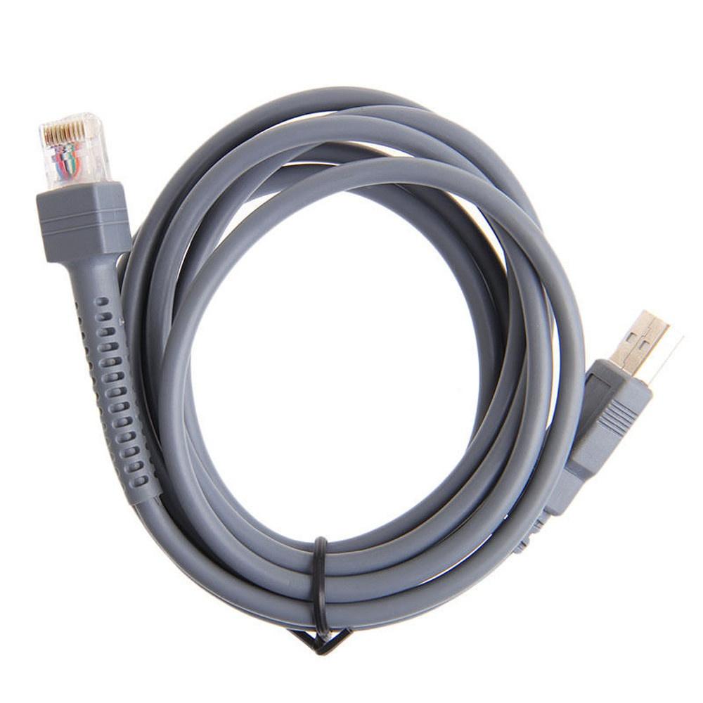 2m Symbol Barcode Scanner Usb Cable Ls2208 Ls1203 Ls4208 Ls3008 Cba