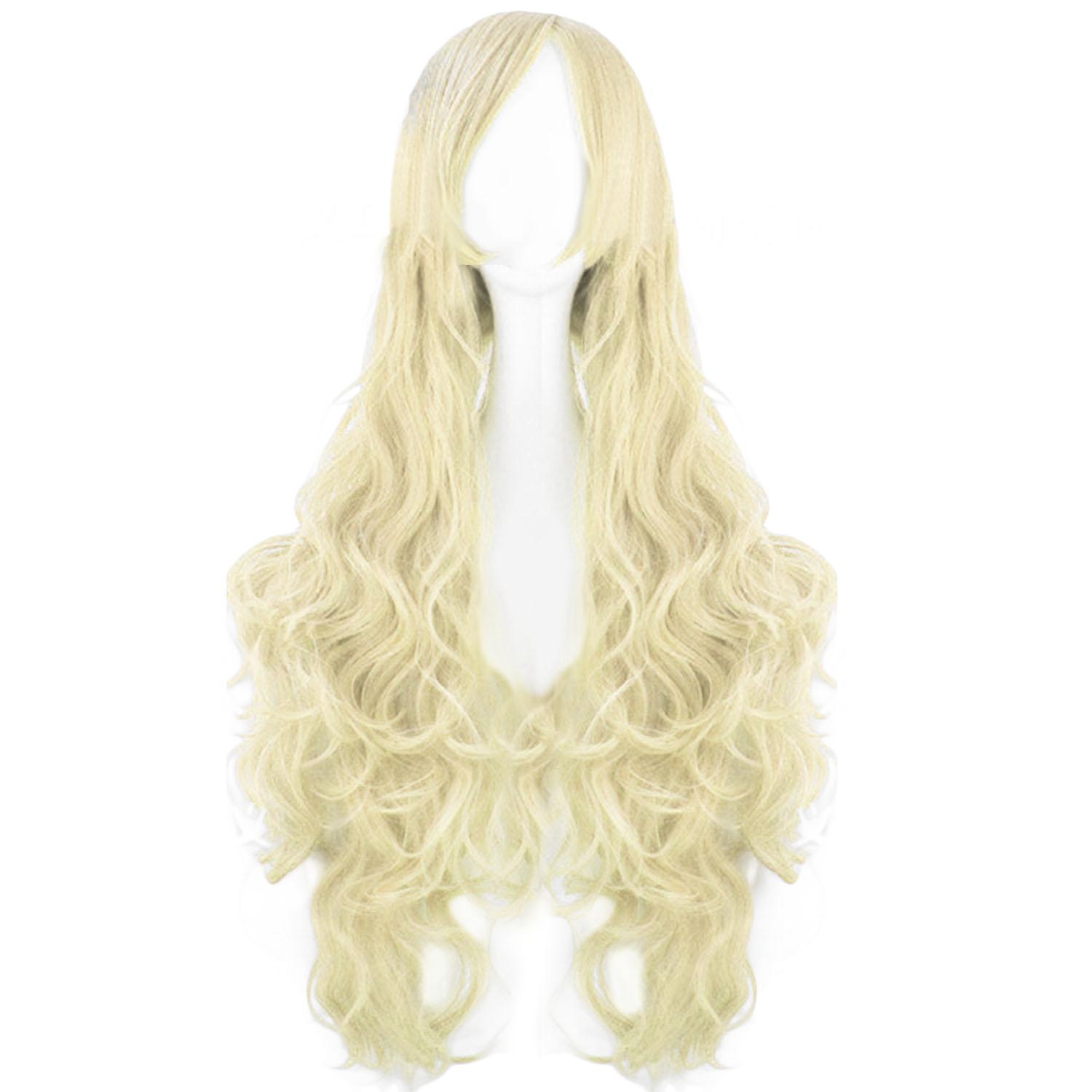 Boom Shakalaka 80cm 32inch Length Fashion Colorful Cosplay Long Curly Hair Extensions Wig for Masquerade Party