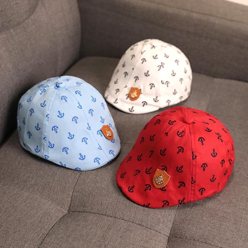 Petpet topi Musim Semi dan Musim Gugur anak laki-laki model tipis 0-1