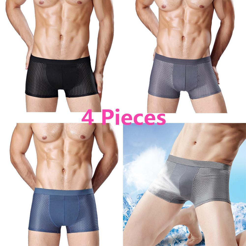 Underwear For Men Sale Mens Online Brands Prices Celana Dalam Boxer Pria Import Super Soft Set Of 4 Shorts Ice Silk Underwears Mesh Briefs