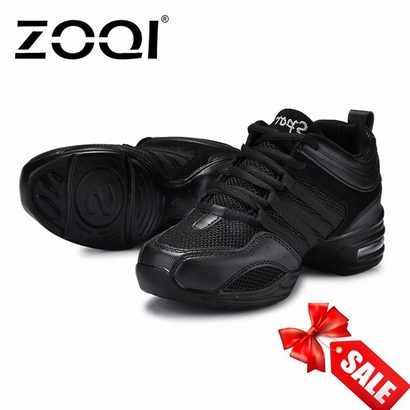 ZOQI Baru Lembut Napas Sepatu Tari Wanita Sports Fitur Dance Sneakers Jazz Hip Hop Sepatu Wanita