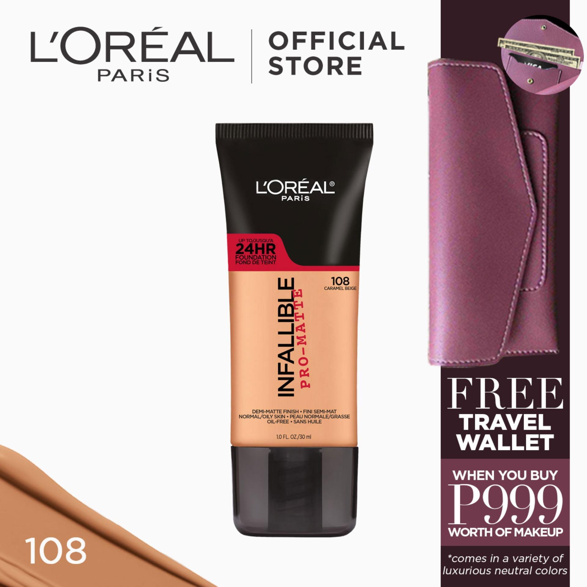 Infallible Pro-Matte Liquid Foundation - 108 Caramel Beige [#NeverFail 24HR Longwear] by LOréal Paris Philippines
