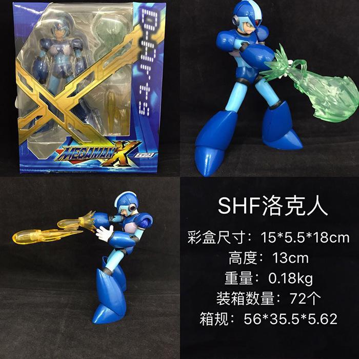 【SHF Rockman joint dapat digerakkan】Tempat mainan puisi lucu edisi terbatas versi komik SHF Rockman model tangan bergerak biru
