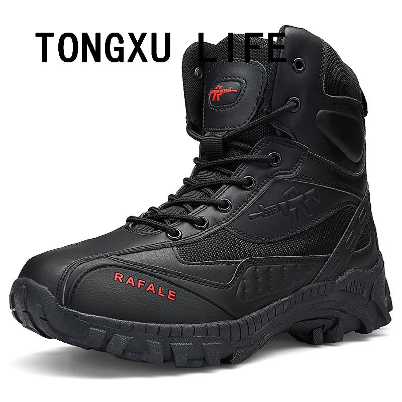 Men's Outdoor Boots,TONGXU LIFE Lightweight Lace up Combat Boots Military Tactical Outdoor Men Boots