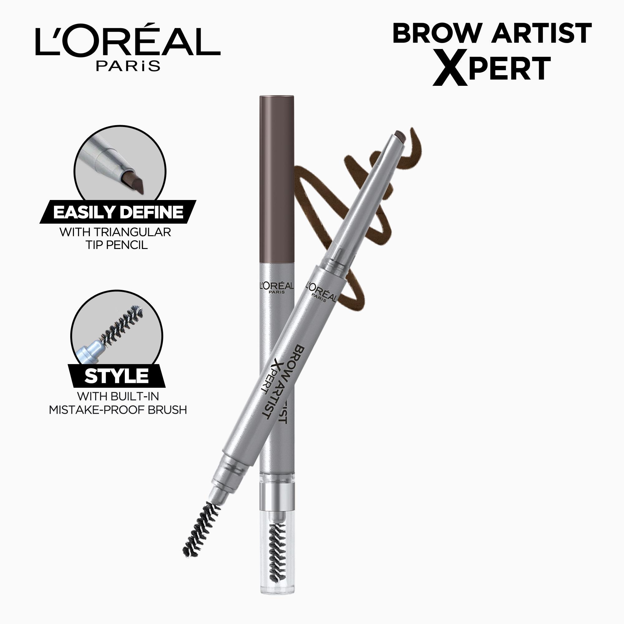 Brow Artist Xpert 2-in-1 Brow Pencil- 107 Cool Brunette by LOréal Paris Brow Artist Philippines