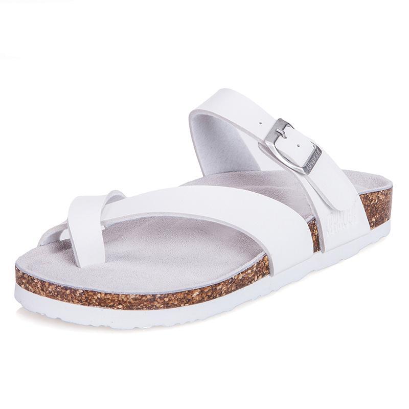 ... Guoluofei Gaya Korea Gabus sendal adem musim panas perempuan Tutup jari kaki ukuran besar Sandal pantai