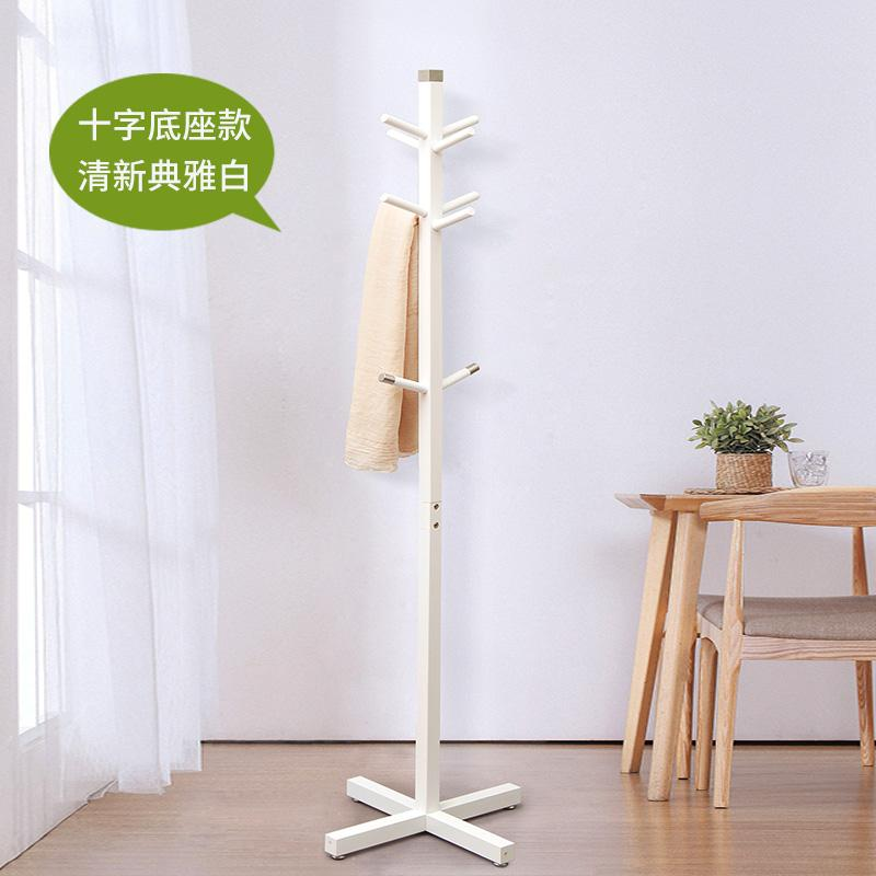 Minimalist Modern Bedroom Simplicity Floor Cloth Hanger Creative Entrance Hallstand Foyer Clothes Rack Solid Wood Clothes Rack