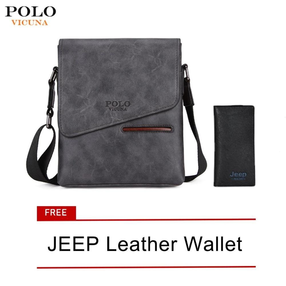 400cc5d4ced5 VICUNA POLO Vintage Frosted Leather Messenger Bag For Man Brand Business  Man Bag Men s Shoulder Bags