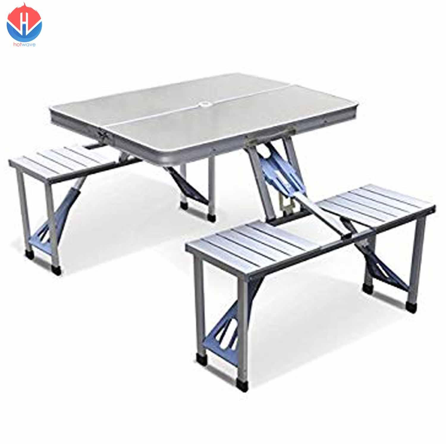 Fine Foldable Picnic Tables Outdoor Tables Set With 4 Stools Download Free Architecture Designs Scobabritishbridgeorg