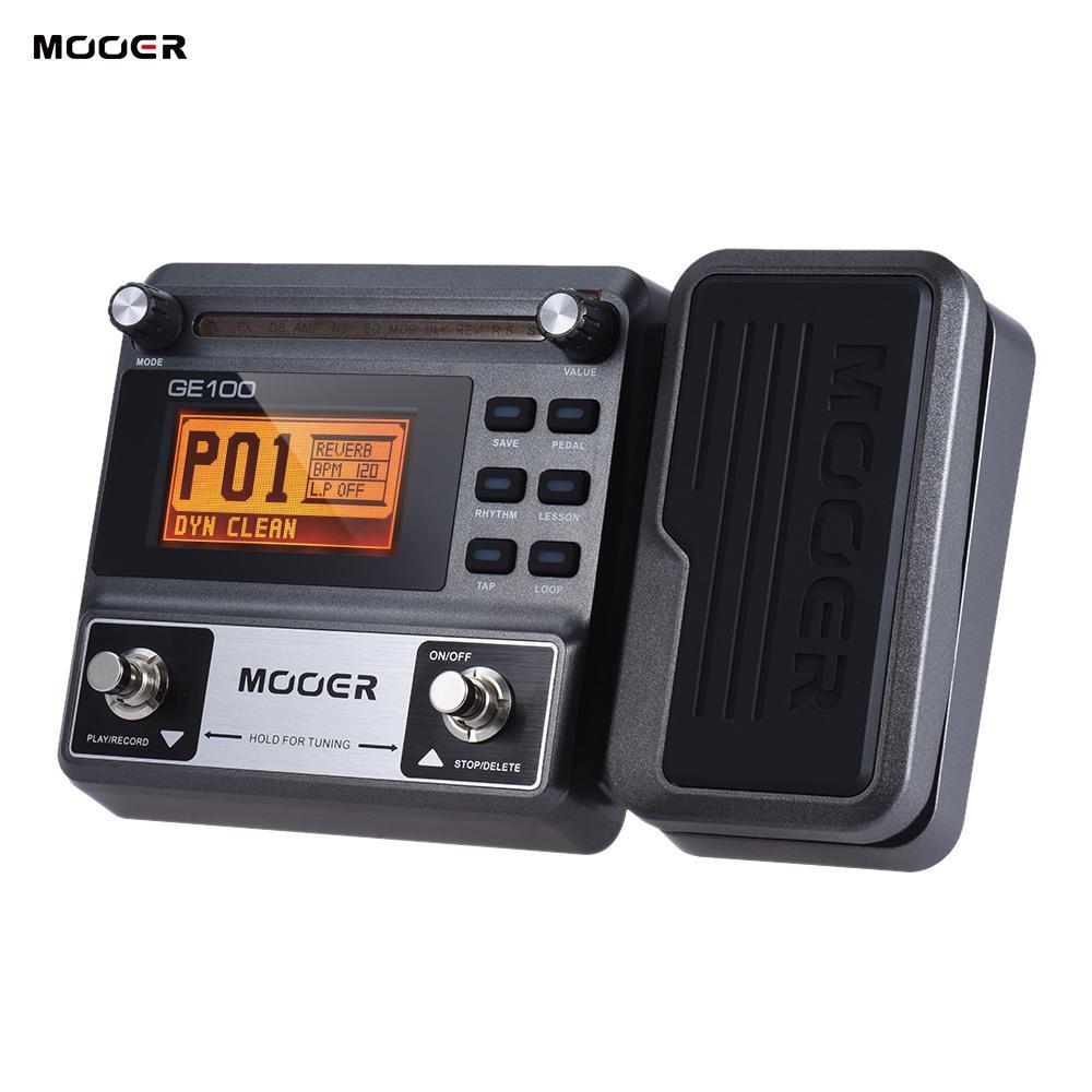 Mooer GE100 Gitar Multi-Efek Prosesor Efek Pedal dengan Loop Rekaman (180 Detik) tuning Ketuk Tempo Irama Pengaturan Skala & Chord Pelajaran Fungsi