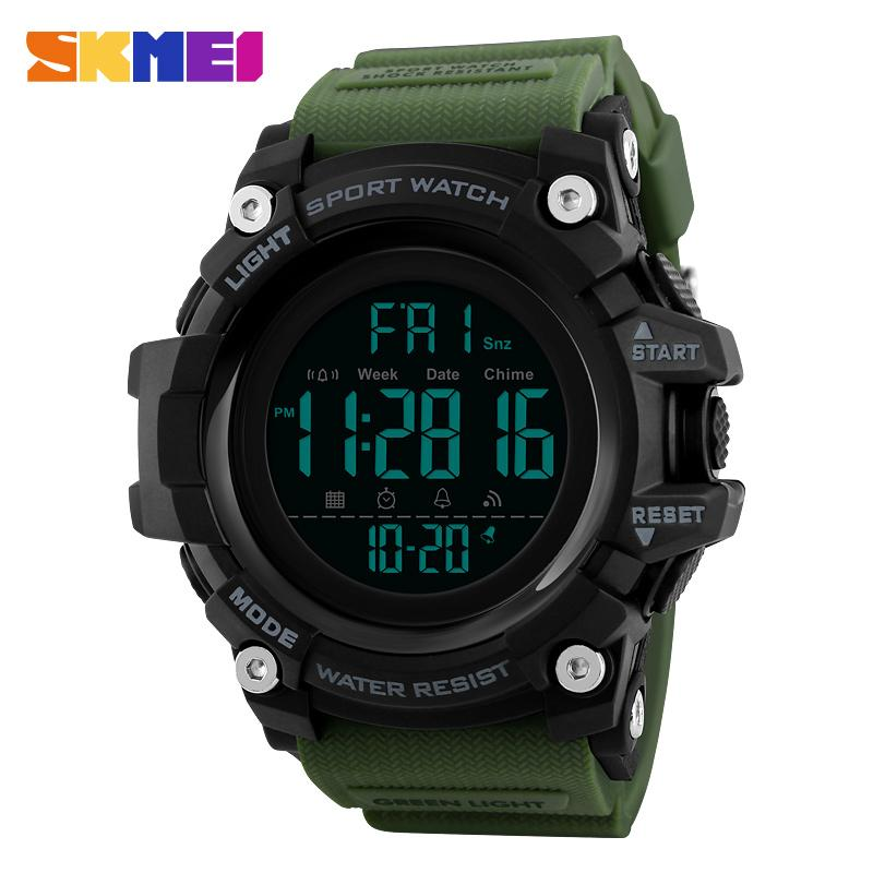 SKMEI Mainly Model  Men Wristwatch Shock 50m Water Proof LED Chrono Alarm Clock Sport Watch Man Digital 1384 Malaysia