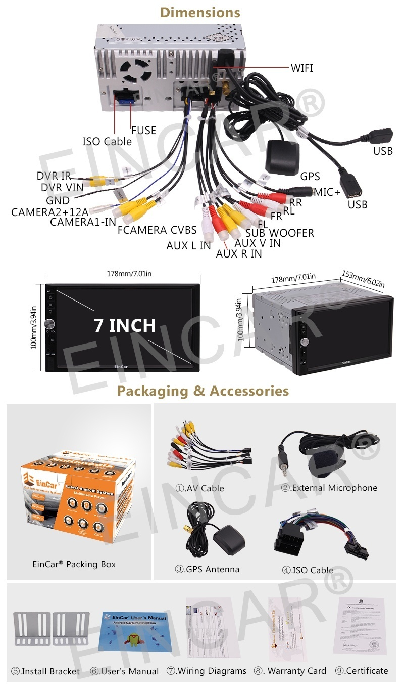 New Arrival Universal Car Stereo Pure Android 60 System In Dash How To Wire A Tags Stereodouble Din Gps Navigation Radio2 Stereoandroid Double Dincar Dvd