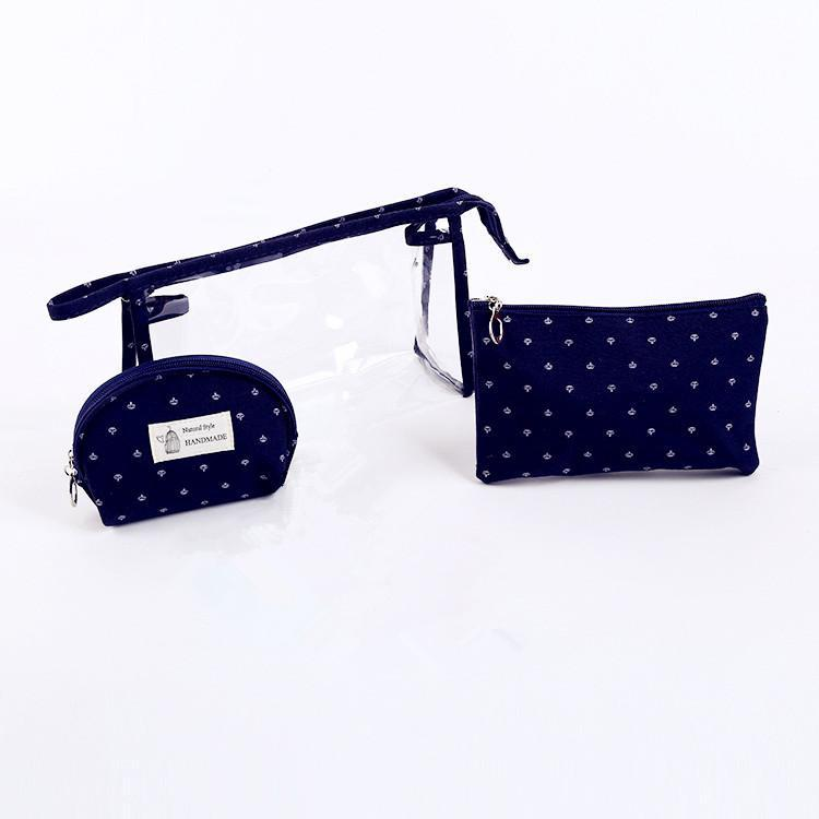 AMOG 3pcs Handmade Waterproof Cosmetic Translucent Makeup Pouch Travel Toiletry Bag Philippines