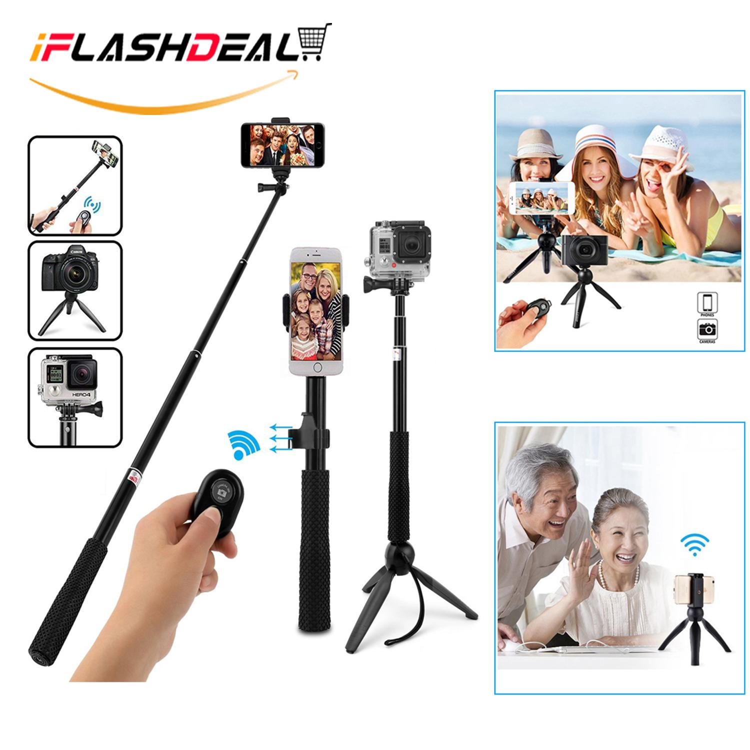 Selfie Sticks For The Best Prices In Malaysia Tongsis Wireless Iflashdeal Bluetooth Stick Tripods Extendable With Remote And Tripod Stand