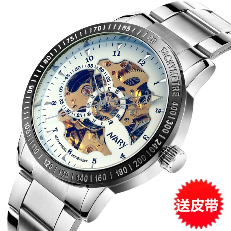 Produk Asli Tren Dua Sisi berongga Tourbillon Sepenuhnya Otomatis Jam  tangan mekanik Jam tangan pria Tahan 8a761b9a7f