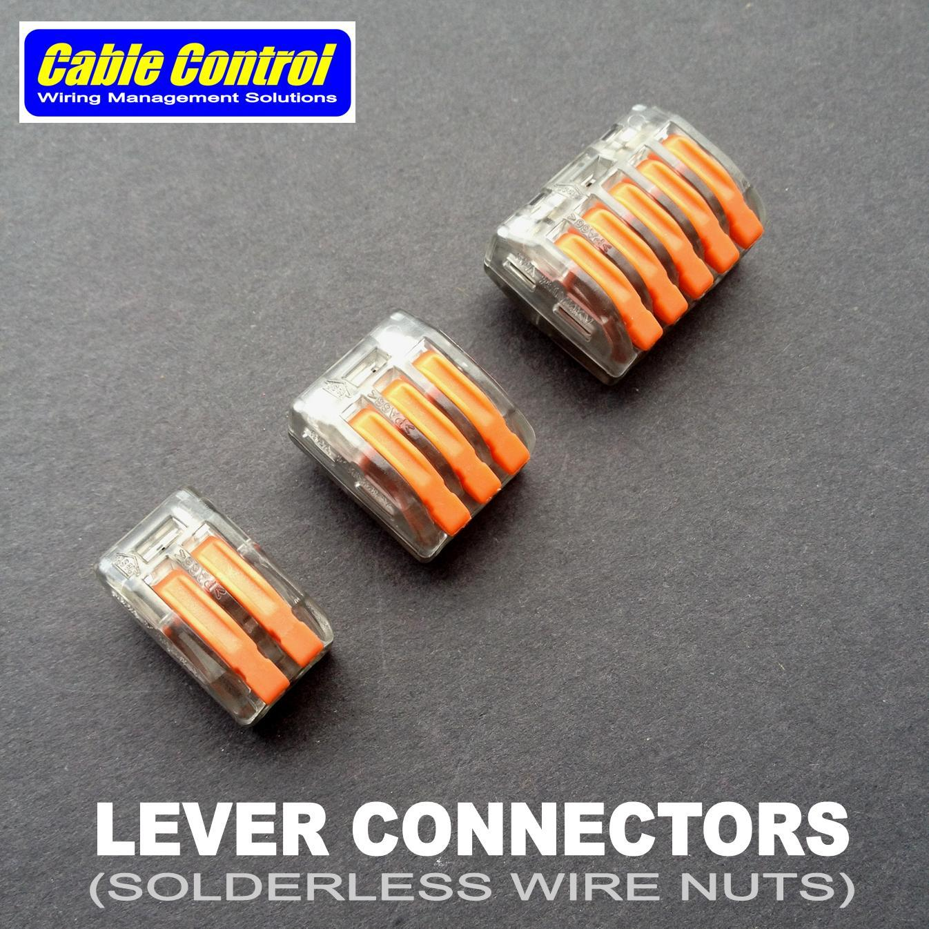 100pcs Universal Compact Conductor Terminal Block With Lever Wago Connector 2 Wire 222 412 Cage Clamp The Garage Manila Cable Control Connectors Type