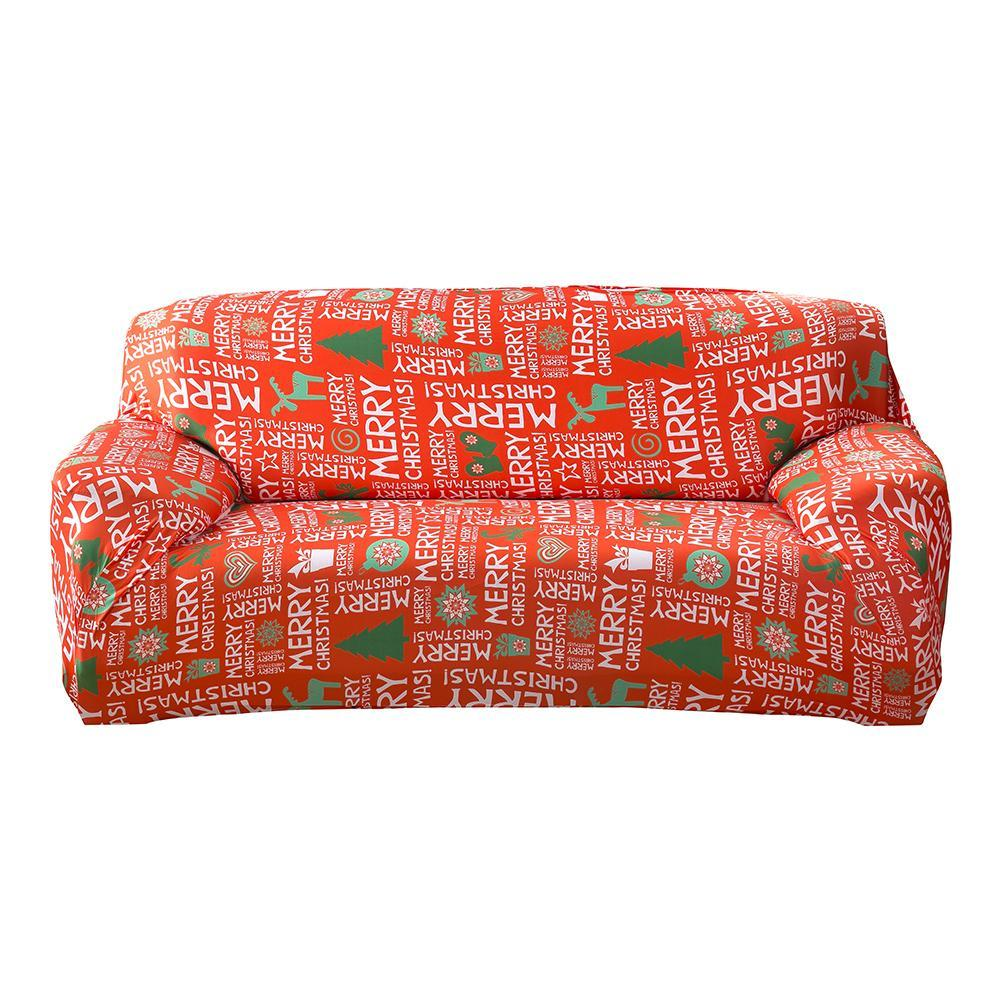 PHP 1.078. Christmas Letters Printed Fashion Spandex Stretch Slipcover Big Elasticity Couch Cover Loveseat Sofa Furniture ...