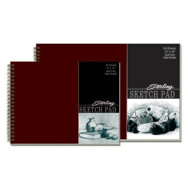 Sterling Professional Sketch Pad Double Loop Wire 9'' x 12'' ...
