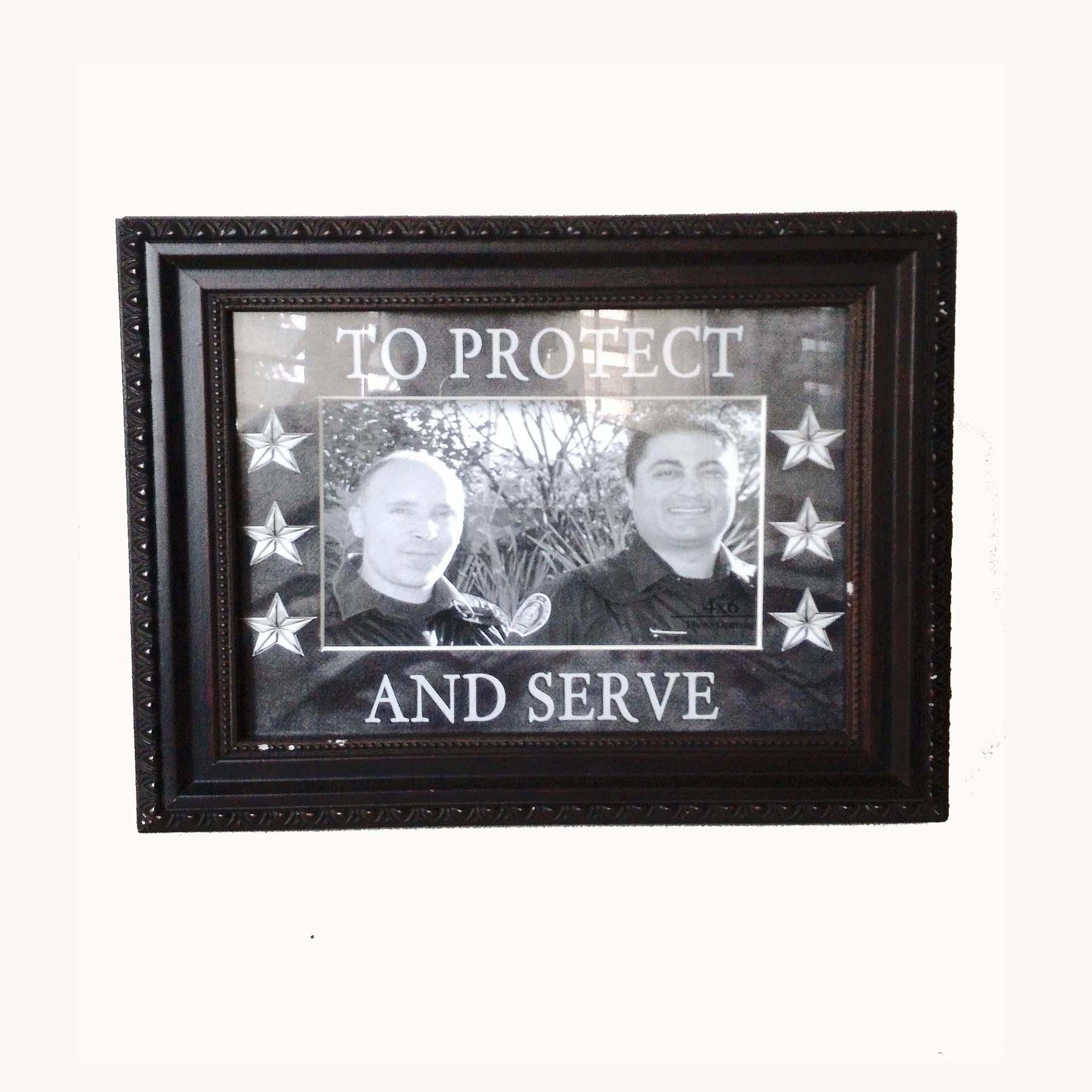 To Protect And Serve Embellished Picture Frame