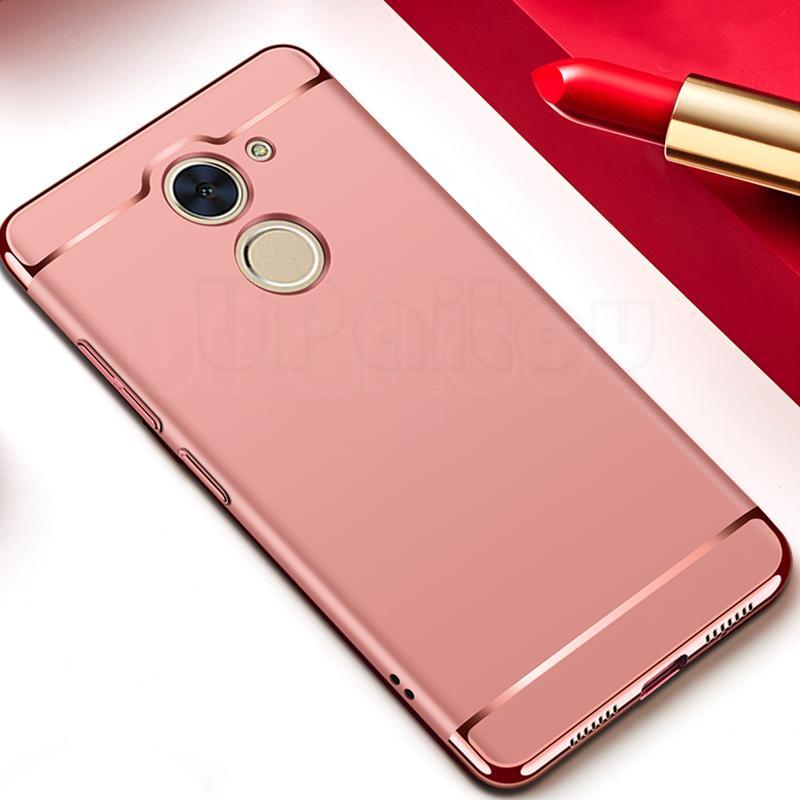 Mewah 3 Dalam 1 Keras Buah Belakang Case untuk Huawei Y7 Prime/Nikmati 7 Plus-Internasional