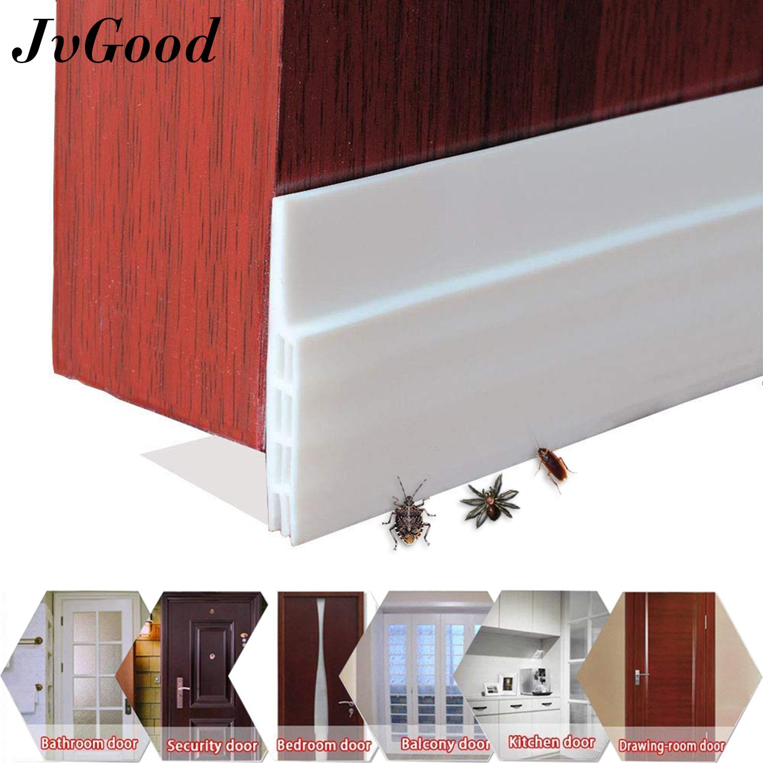 Jvgood Door Bottom Seal Strip Adhesive Under Door Silicone Sweep Weather Stripping Under Door Draft Stopper Rubber Strip Door Block Seal Noise Reduction Dustproof Weatherstrip By Jvgood.