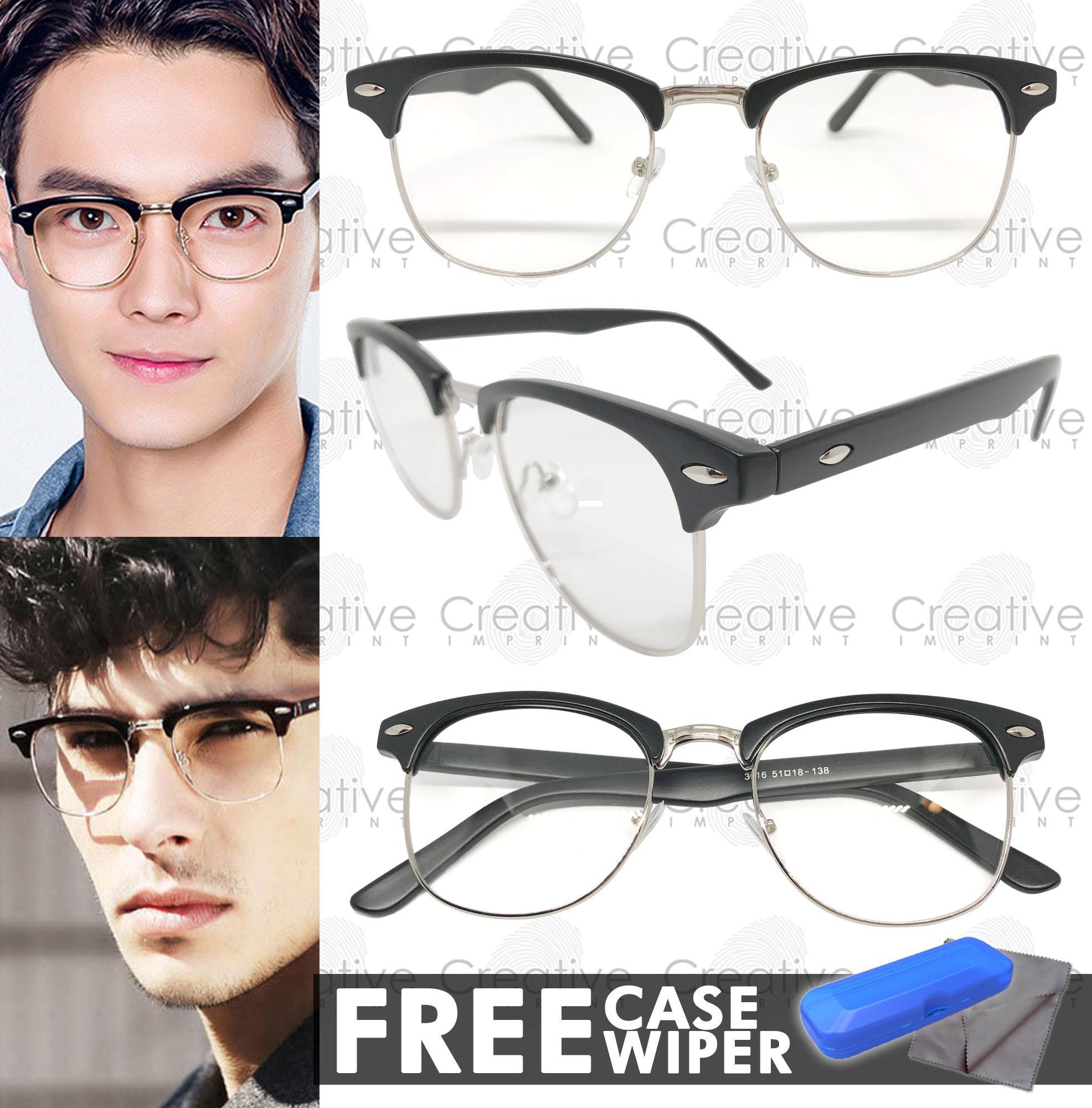 Creative Imprint Eyeglasses Replaceable Lens (Clubmaster  01 Black Silver  Matte) Premium High Quality ad16256111d7