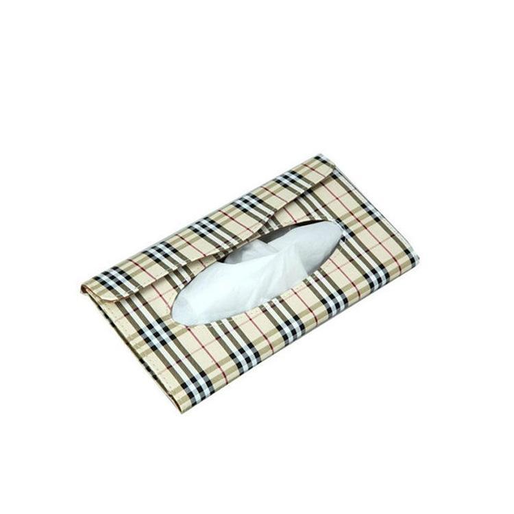 YANYI 230*115*22MM Sun Visor Car Leather Tissue Box Car Decoration Napkin Holder Paper Towel Box Models:Tissue Boxpack