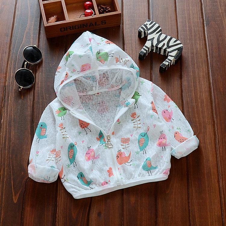 Bayi perempuan Baju pelindung matahari Jaket pakaian musim panas 0-1-2 tahun 3 anak kecil pakaian AC 6 bulan anak prempuan anti nyamuk Kemeja bayi Tipis