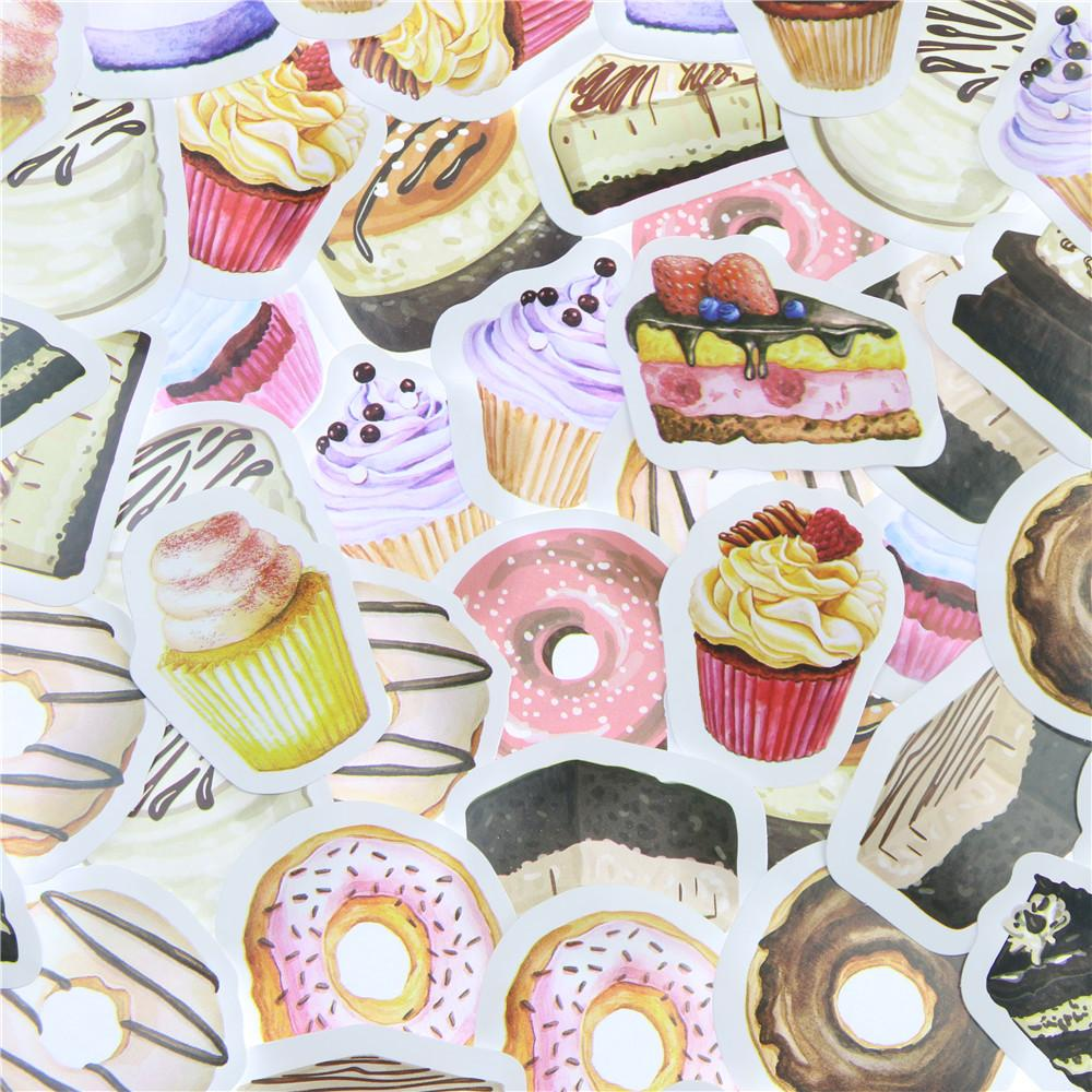 Mua 45 Pcs/lot Birthday Cake Mini Paper Sticker Decoration DIY Ablum Diary Scrapbooking Label Sticker Kawaii Stationery - intl