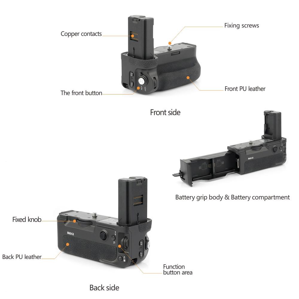 Mcoplus-Meike-MK-A9-Pro-Battery-Grip-Verticale-con-2-4-GHz-Controller-Remoto-per-Sony