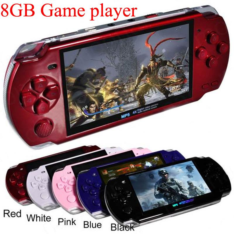 New Updated Built-in 2000+ games PSP X6 8GB4 3 Inch PMP Handheld Game  Player MP3 MP4 MP5 Player Video FM Camera Portable Game Console
