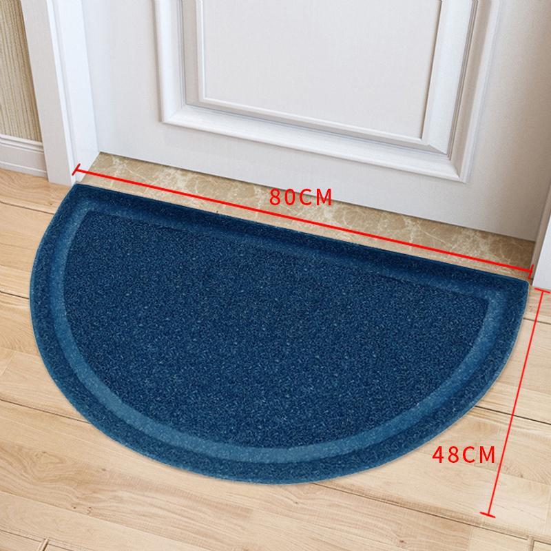 Foyer Wire Ring Mat Doormat Door Living Room Entrance Doors Mouth Dust Removal Mat Semi-Circular Anti-slip Water Absorption Mat