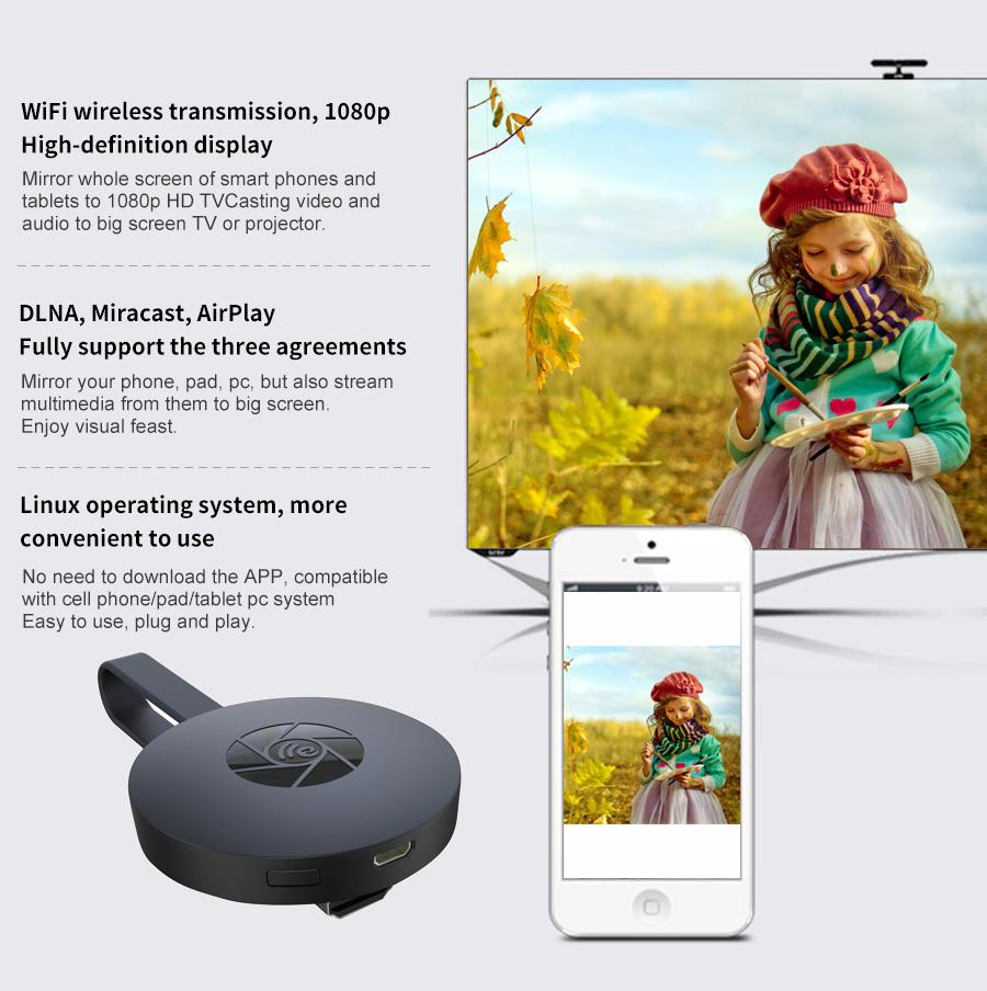 The Price Of New Mirascreen G2 Tv Stick Dongle Anycast Crome Cast Wireless Hdmi Wifi Display Hd Receiver Miracast Google Chromecast