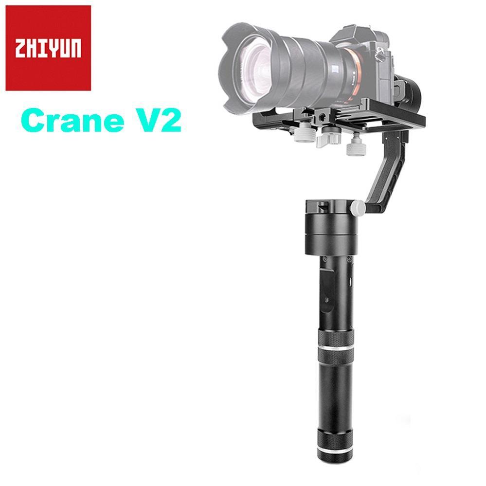 Zhiyun CRANE V2 3-Axis Pegangan Tanpa Sikat Stabilizer Gimbal untuk Sony Canon Nikon Kamera Mirrorless A7s GH4 Dukungan 350G-1800G