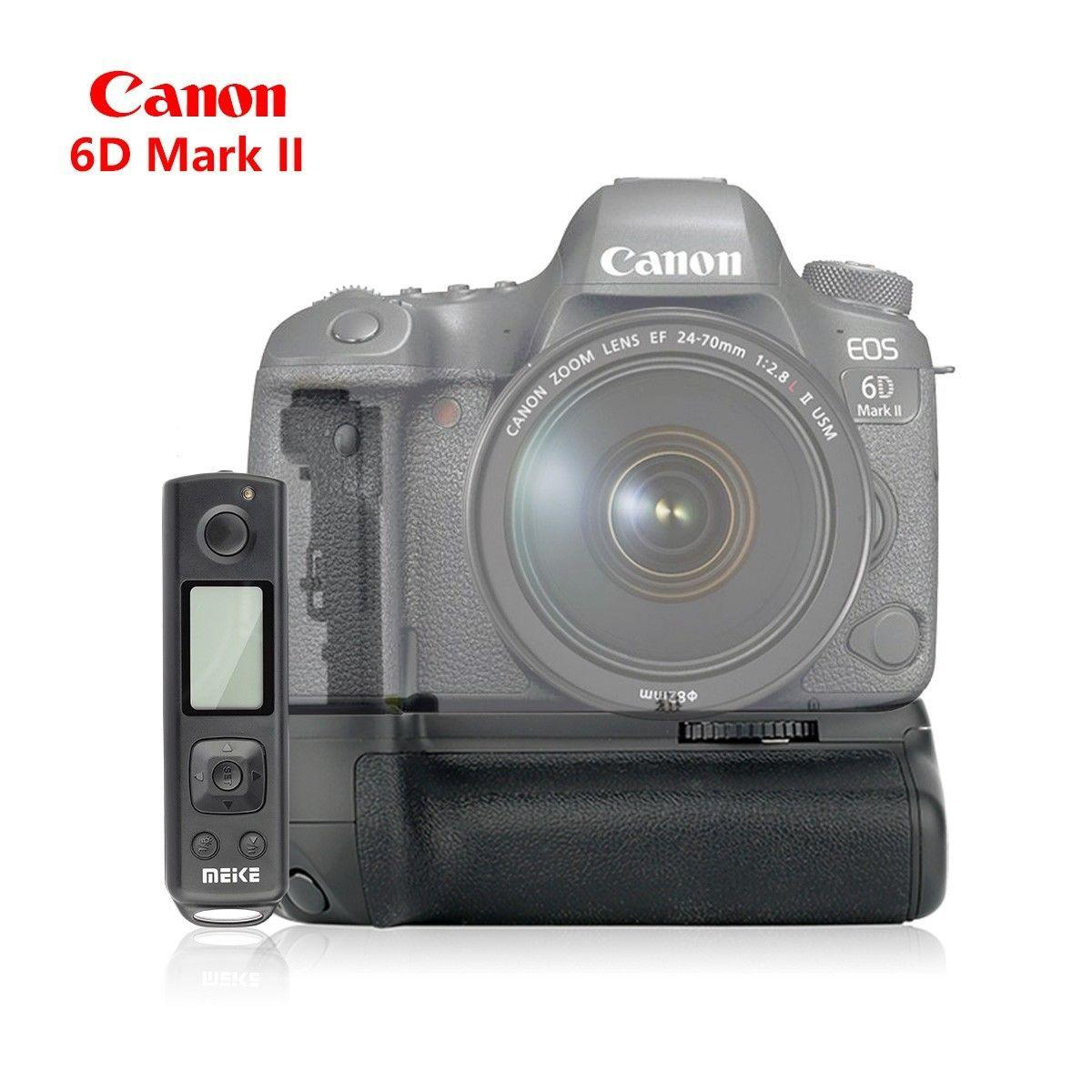 Meike MK-6D2 Pro Battery Grip Built-in 2 4GHz Remote Controller for Canon  6D II