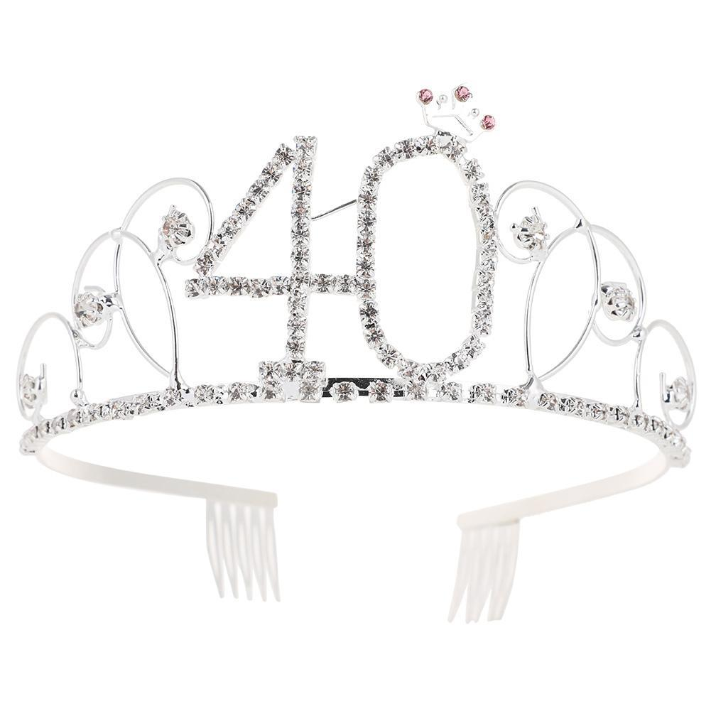 Digital Crown Birthday Party Queen Crowns Hair Comb Ornaments Accessories