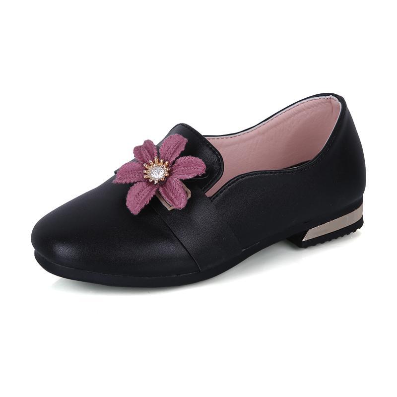 Sepatu anak anak prempuan Sepatu hitam Sepatu Kulit anak perempuan sepatu  putri Gaya Korea Pijakan empuk 035b809a3c