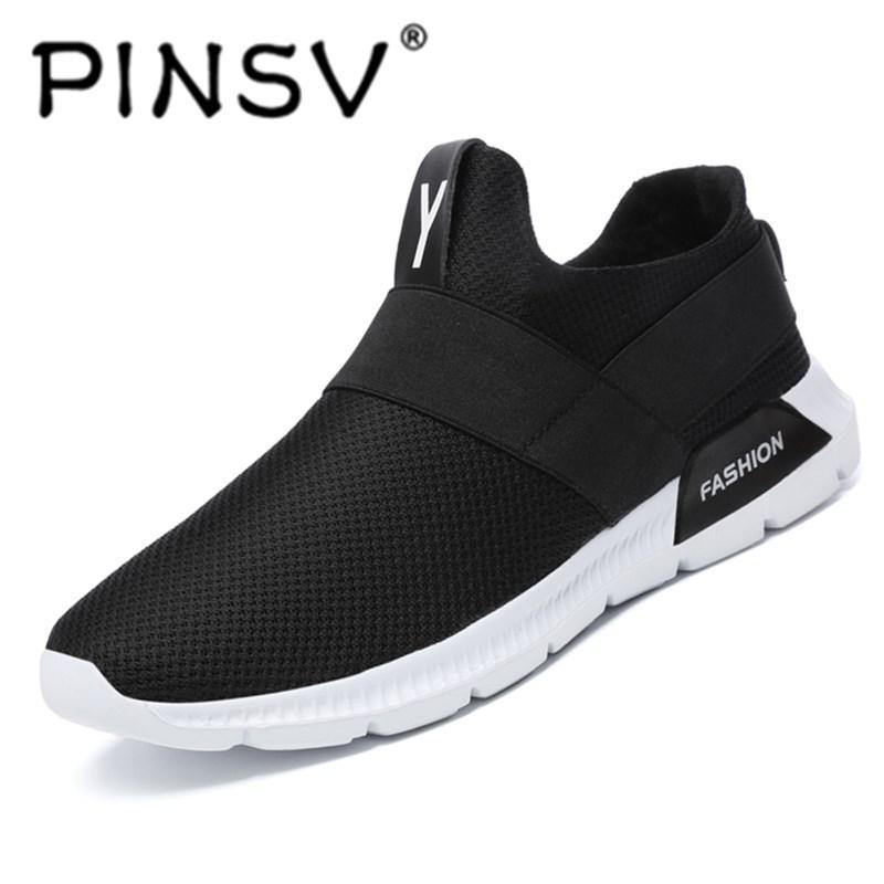 Olahraga Pinsv Pria Bernapas Mesh Sepatu Ukuran Besar Sepatu-Intl