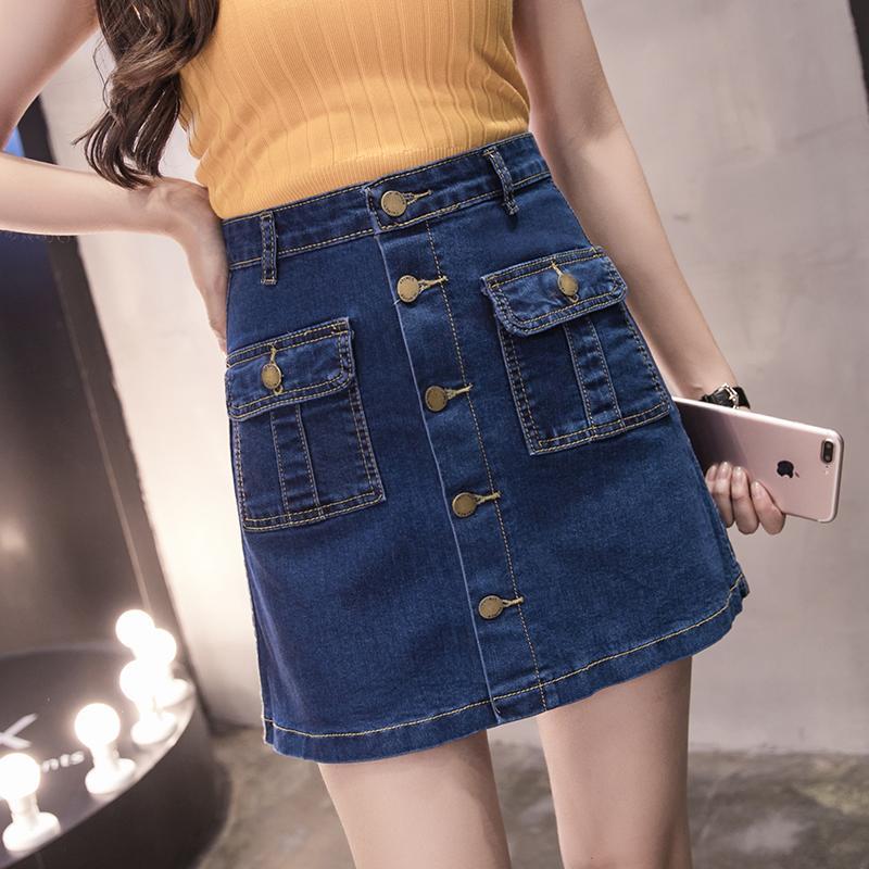 MM Rok Jeans Baru Rok Pendek Korea Fashion Style Ukuran Besar Musim Panas
