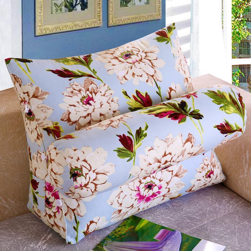 Bed Back throw pillow Sofa Triangle throw pillow Office Chair Backrest Lumbar Support Pillow Neck Guard Back throw pillow Bedside da bao zhen