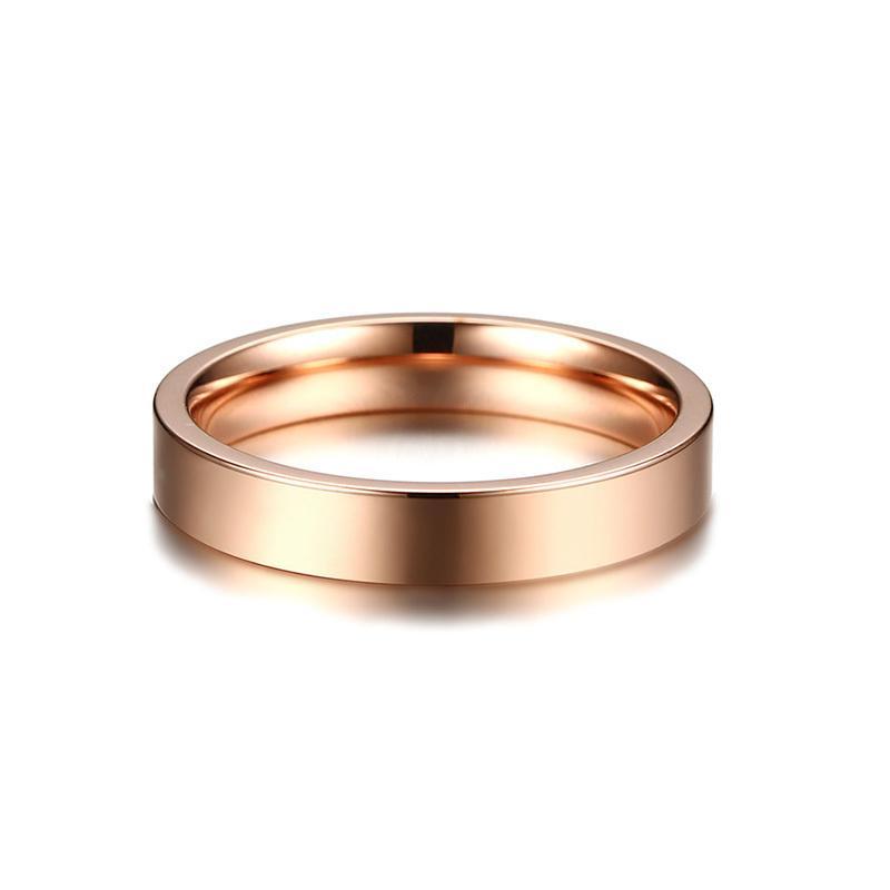 Vnox Ukiran Lokasi GPS Garis Bujur dan Lintang Info Band Pernikahan Cincin untuk Wanita 3 Warna