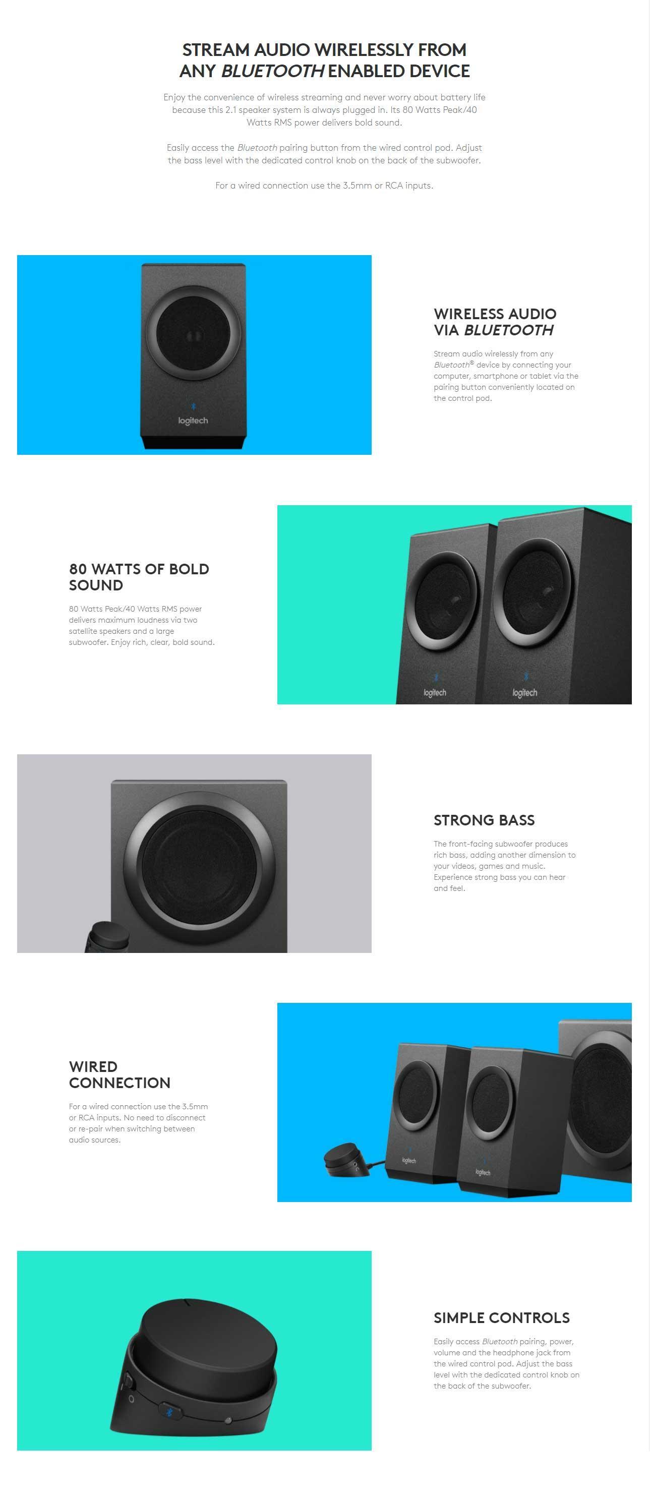 Logitech Z337 Speaker System With Bluetooth   Lazada PH
