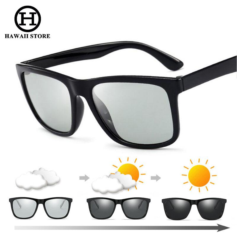 1e104c257fe Fashion Polarized Photochromic Sunglasses Men Women Vintage Square Driving  Sun Glasses TR90 Goggles Mens Sport Eyewear