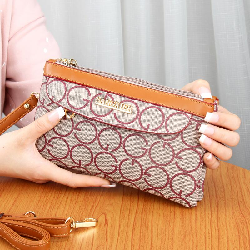Model baru Ibu Tas tangan Tas tenteng Selempang tas bahu dengan satu tali Uang Kecil Layar Besar HP belanja Tas Elegan minimalis tas wanita Tas 2 Fungsi