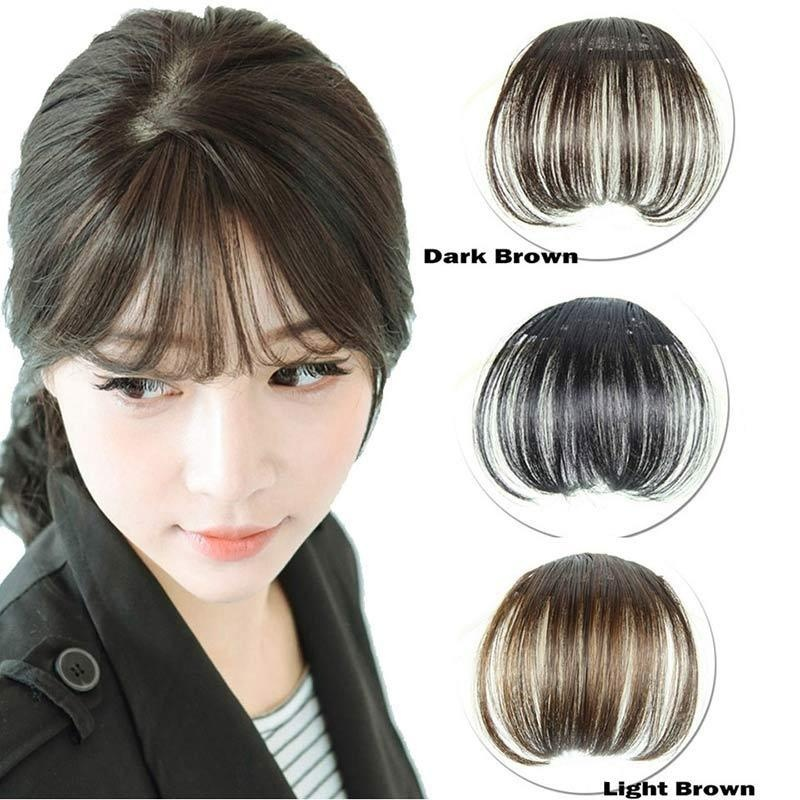 Women Bangs Wig Hair Extension Fringe Hairpieces Hair Clips Front