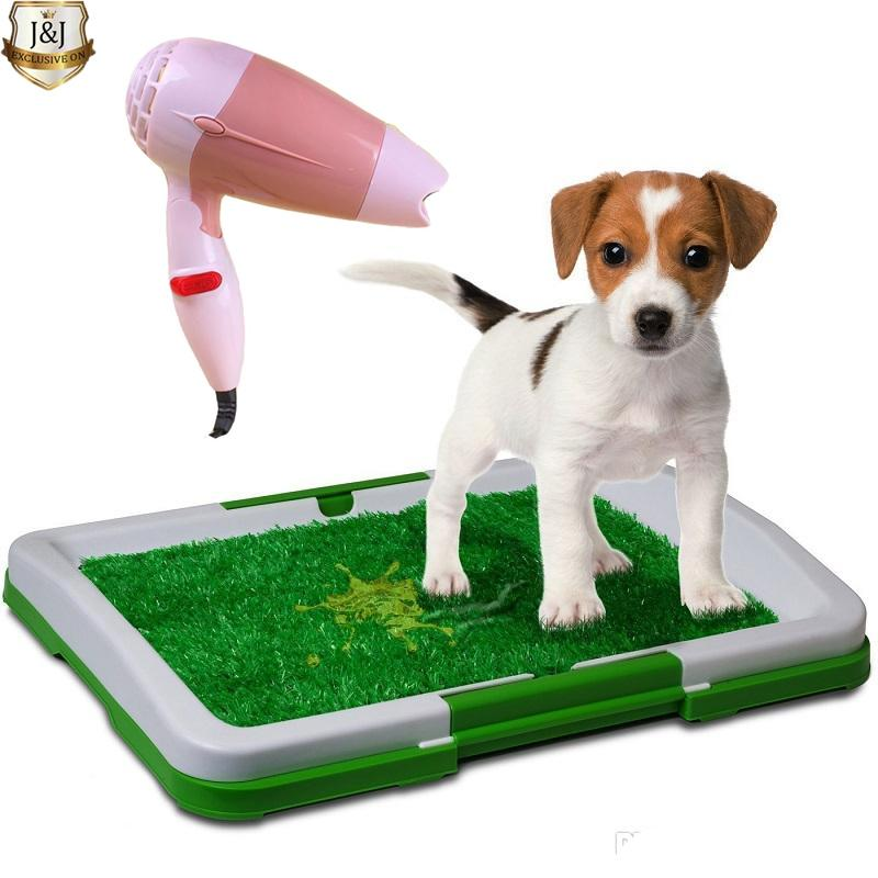 3 Layer Indoor Grass Pet Dog Potty Pad Training Stain Green D15 With Foldable Mini