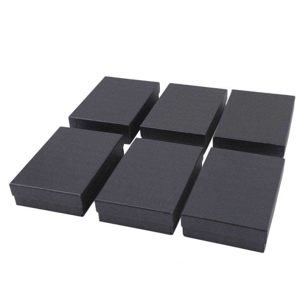 Lalove 6 Pcs Dark Stripe Ornaments Bo Packaging Gift Box For Necklace Earrings Valentine S Day