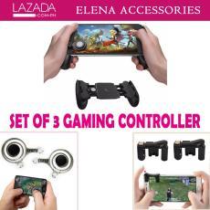 Set Of 3 Multifunctional Adjustable Gaming Controller Mobile JL-01 Mini Joystick Fling L1R1 Gaming