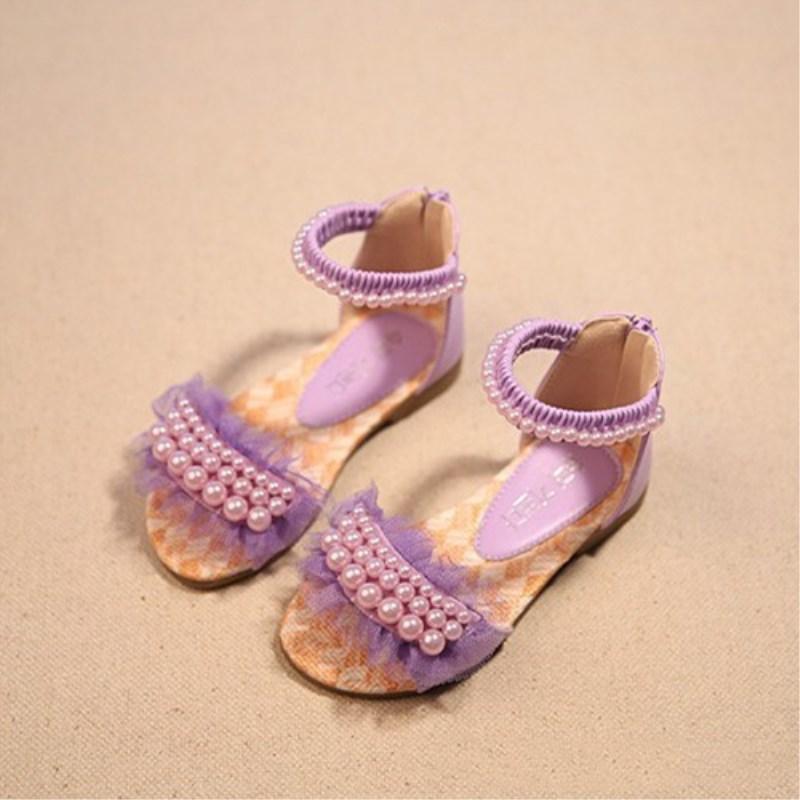 Giá bán Kiểu Hàn Quốc Mùa Xuân Và Mùa Hè Mẫu Mới Cô Gái Giày Trẻ Em Dép Lê